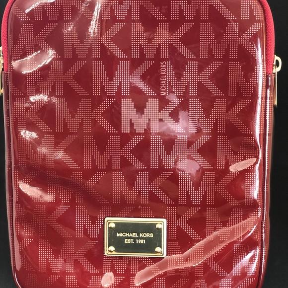 Michael Kors Red Vinyl Tablet Case